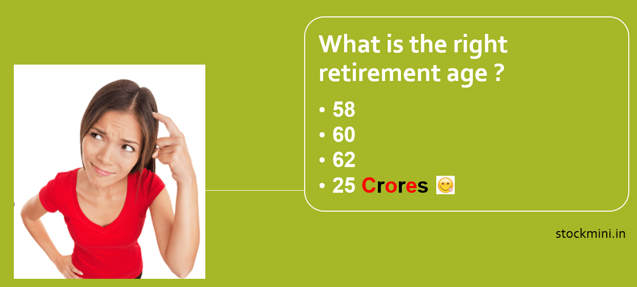 What is the right retirement age