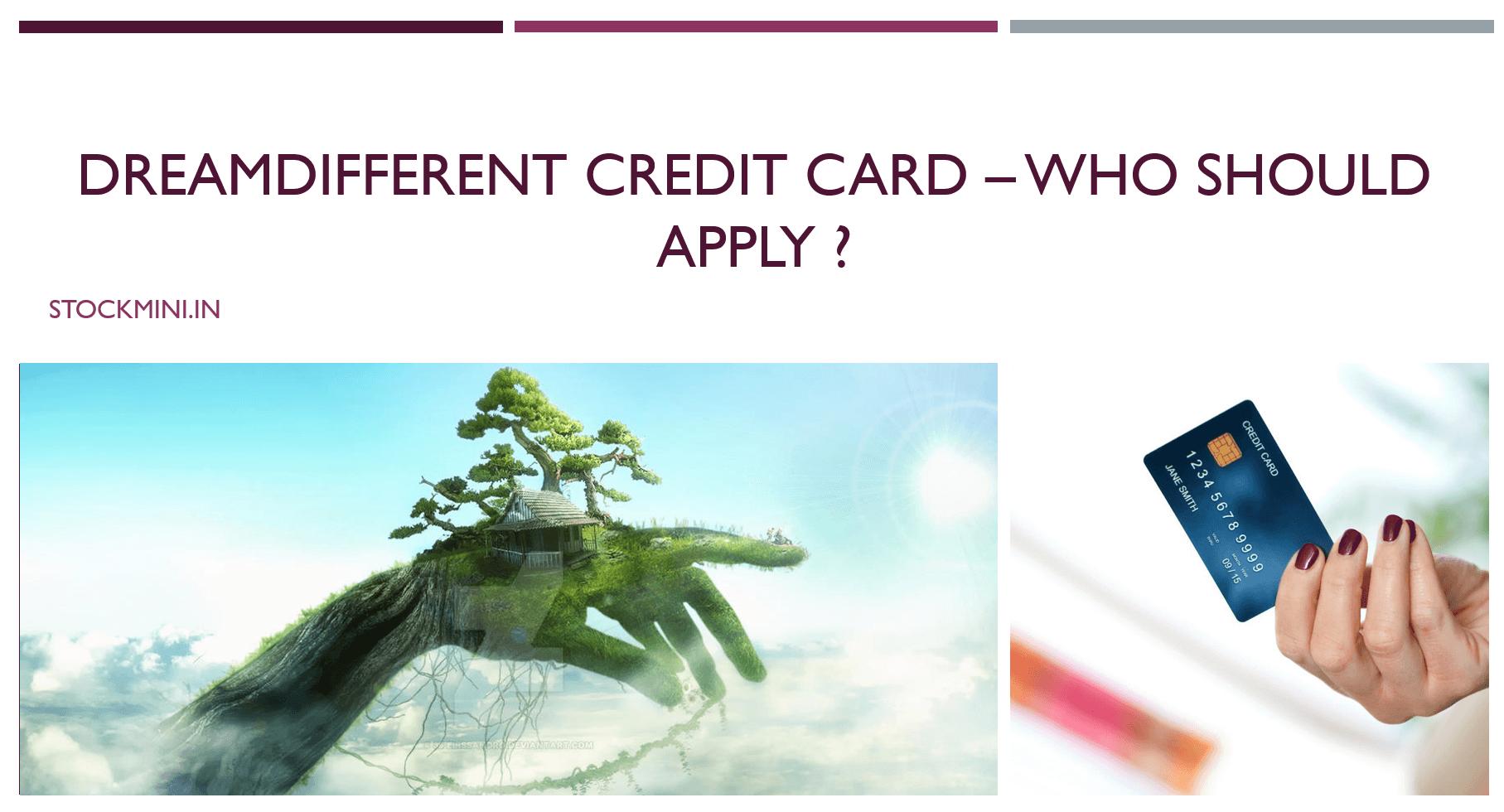 811 #DreamDifferent Credit Card