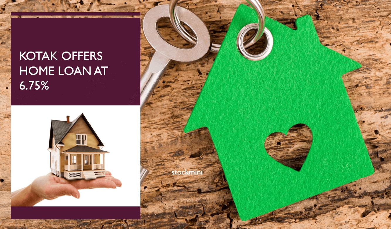 Kotak offers home loan at 6.75%